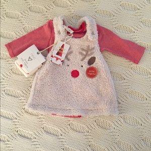 Christmas Reindeer Dress 0-3 months from NEXT